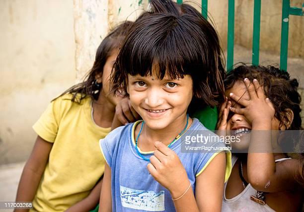 Three Cheerful Rural Indian Girls