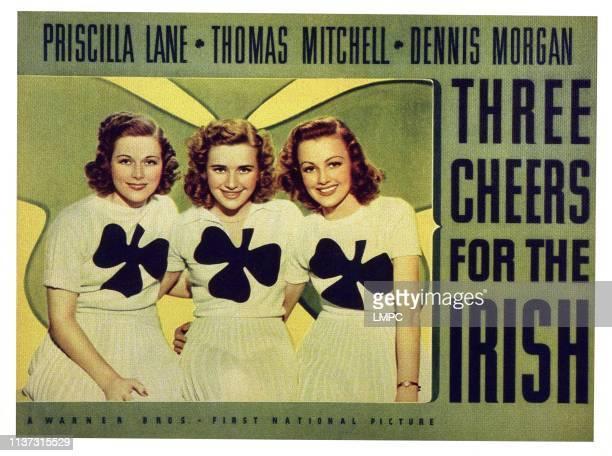 Three Cheers For The Irish US lobbycard from left Irene Hervey Priscilla Lane Virginia Grey 1940