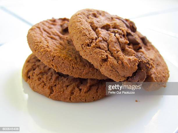 Three Chewy Chocolate Cookies