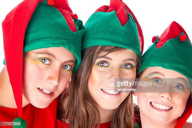 Three Christmas Elves