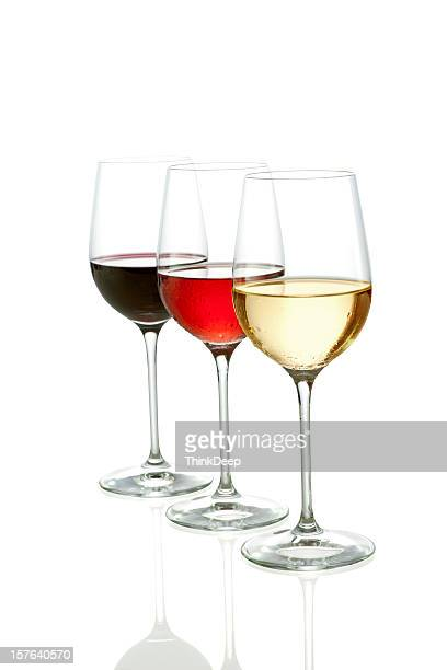 Three Colors of wine  - clipping path included