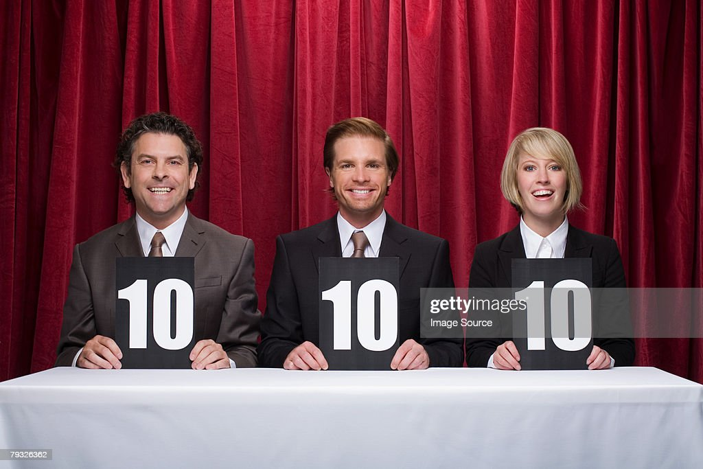 Three competition judges : Stock Photo