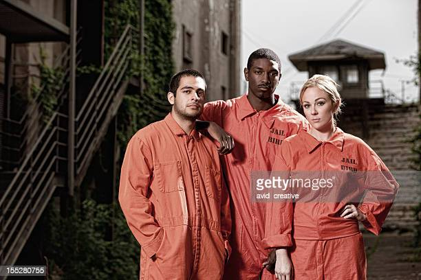 Three Convicts in the Prison Yard