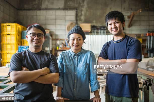 スタジオでの作業 3 職人