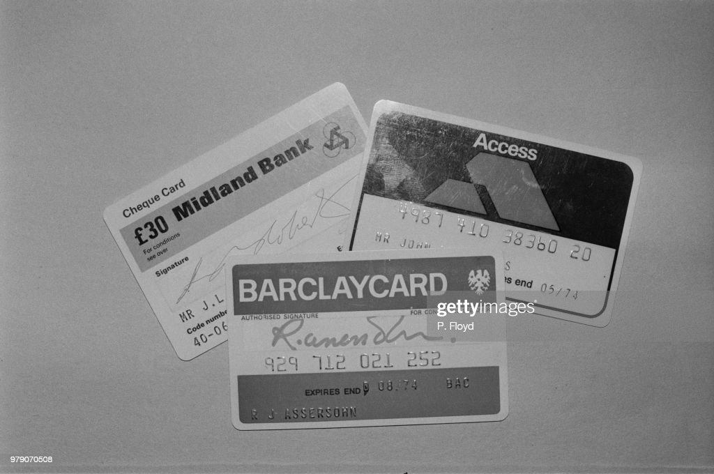 Credit Cards, 1970s : News Photo