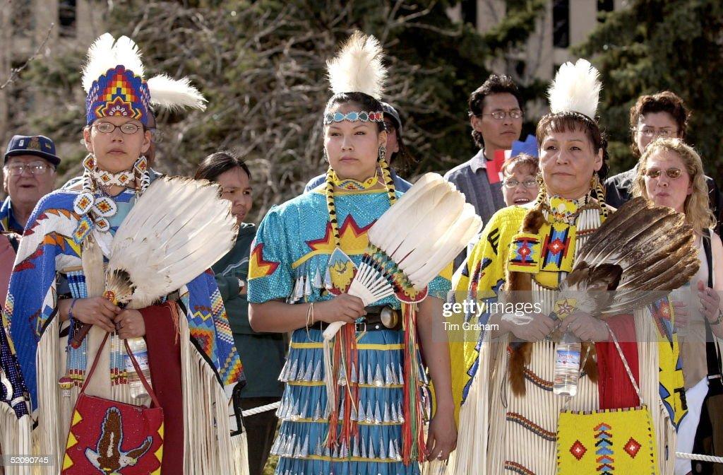 Cree Indian Women Await Charles : News Photo