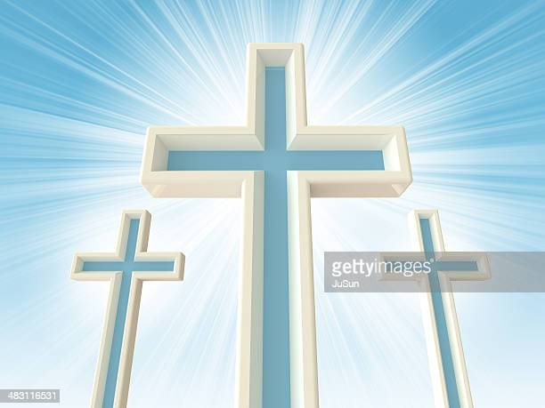 three crosses - images of jesus on the cross at calvary stock pictures, royalty-free photos & images