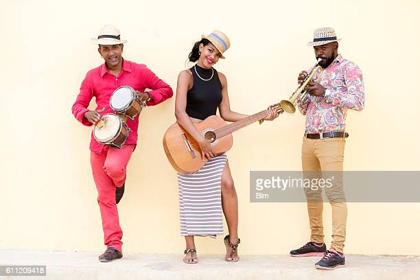three cuban musicians in havana - rumba stock photos and pictures