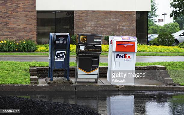 Three Curbside Drive Through Mail Collection Boxes