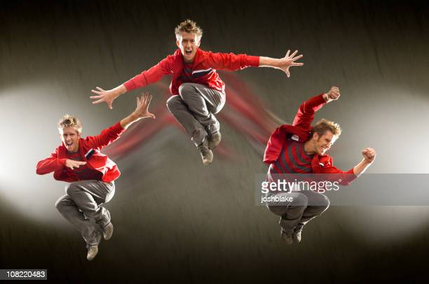 Three Dancers in Red
