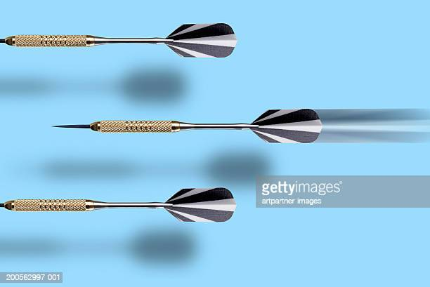 Three darts, close-up