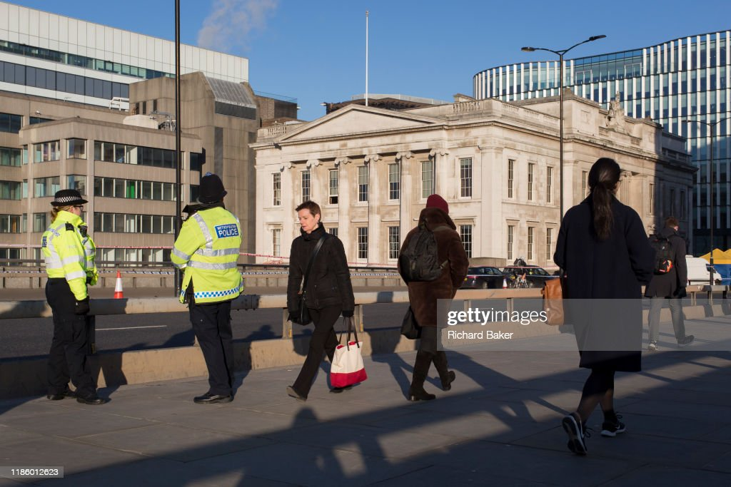 Fishmongers' Hall London Bridge Terrorism  Aftermath : News Photo