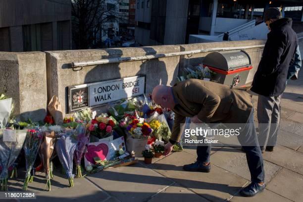 Three days after the killing of Jack Merritt and Saskia Jones by the convicted teorrorist Usman Khan at Fishmongers' Hall on London Bridge a memorial...