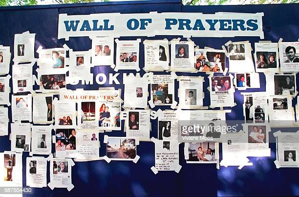 Three days after the terrorist attack on the World Trade Center hundreds of messages and photographs are posted by the missing persons' loved ones on...