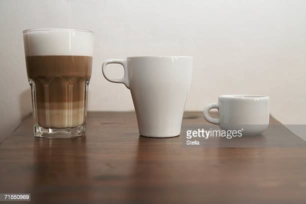 Three different types of coffee
