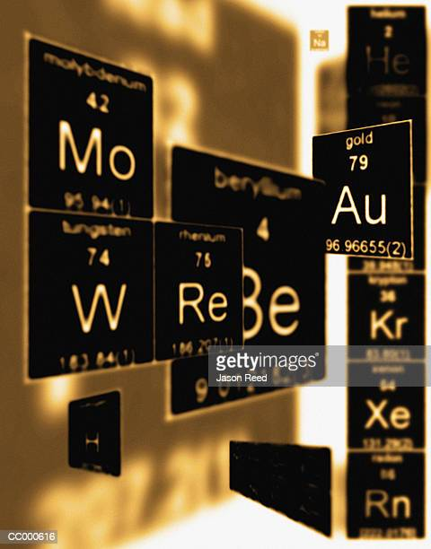 three dimensional periodic table of elements - periodic table stock pictures, royalty-free photos & images