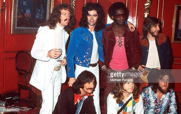 Three Dog Night, group portrait, UK 28th September 1972, L-R Jimmy Greenspoon, Danny Hutton, Floyd Sneed, Joe Schermie Chuck Negron, Mike Allsup,...