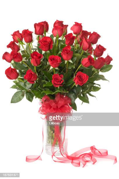 three dozen red roses - rose stock pictures, royalty-free photos & images