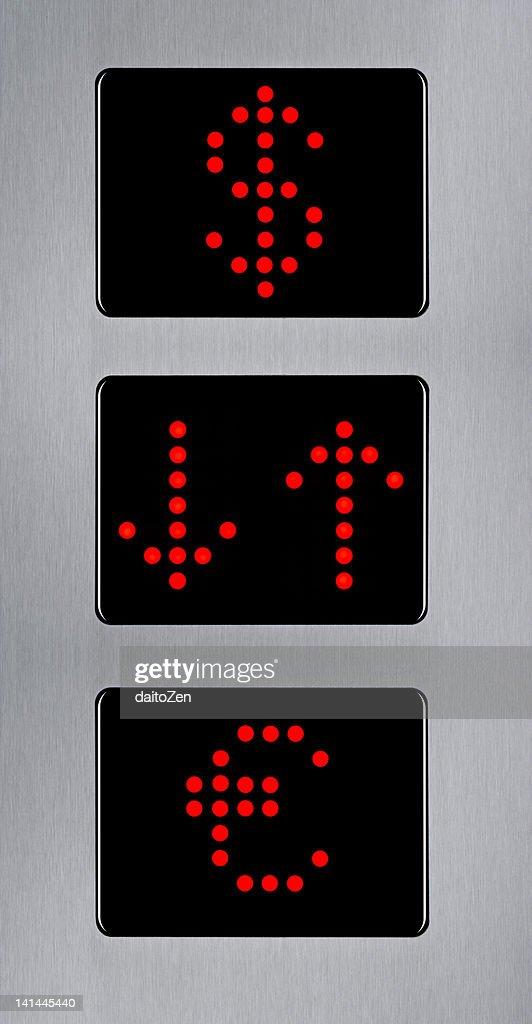 Three elevator floor : Stock Photo