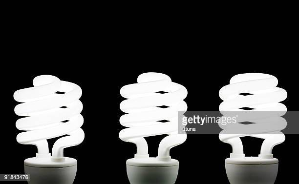 three energy saving bulb white light