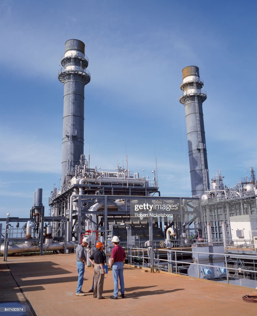 A General Electric Gas Fired Turbine Operate At A Florida Power U0026 Light  Utility Plant