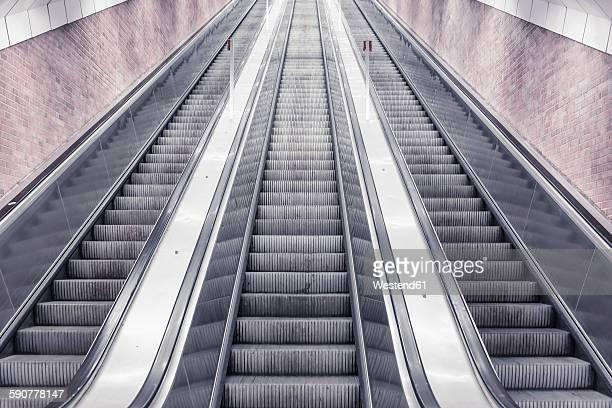 Three escalators