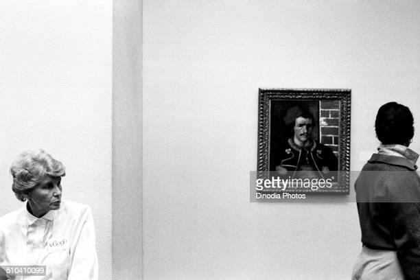 Three faces inside Van Gogh Museum Amsterdam Netherlands Holland 1986