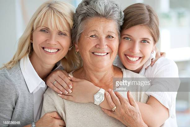 three female generations. - multigenerational family stock photos and pictures