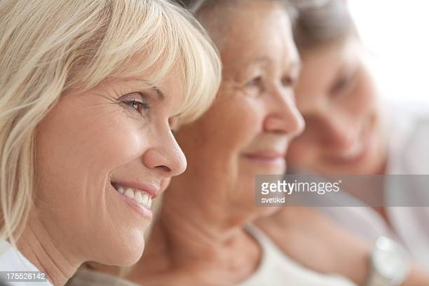 three female generations. - beautiful granny stock photos and pictures