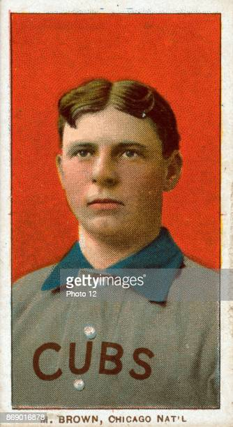 Three Finger Brown Chicago Cubs baseball card portrait Sponsor American Tobacco Company