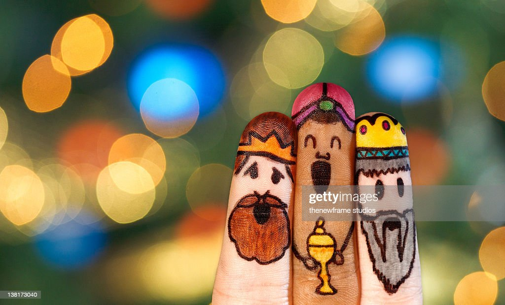 Three fingers magicians : Stock Photo