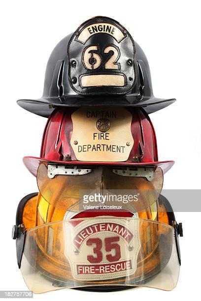 Trois Casque de pompier