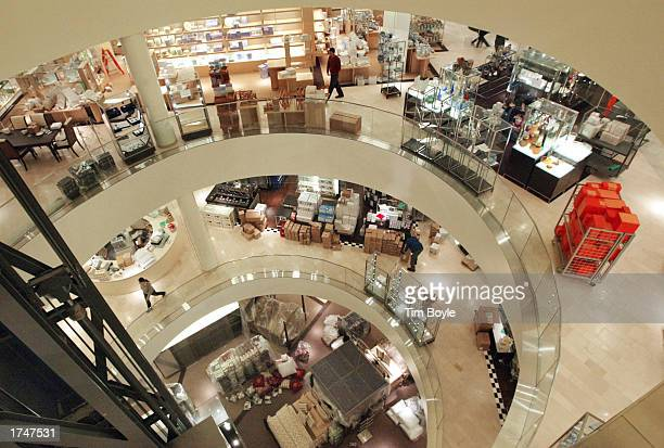 Three floors of shopping space is visible looking down near the elevator shaft area in the new Bloomingdale's Home and Furniture store January 27...