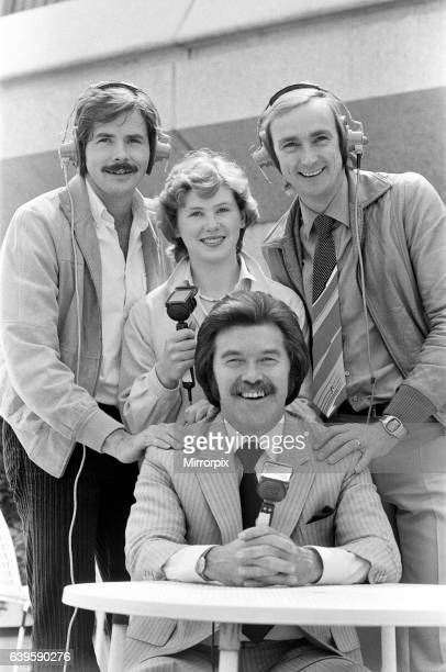 Three former Olympic competitors who will spearhead ITV's coverage of the 1980 Olympic Games, pictured with Dickie Davies at the London Weekend...