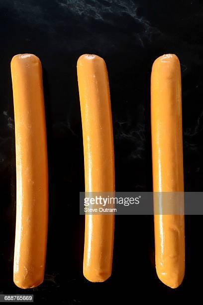 Three Frankfurter Sausages