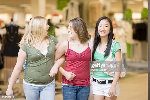 Three Friends at a Mall