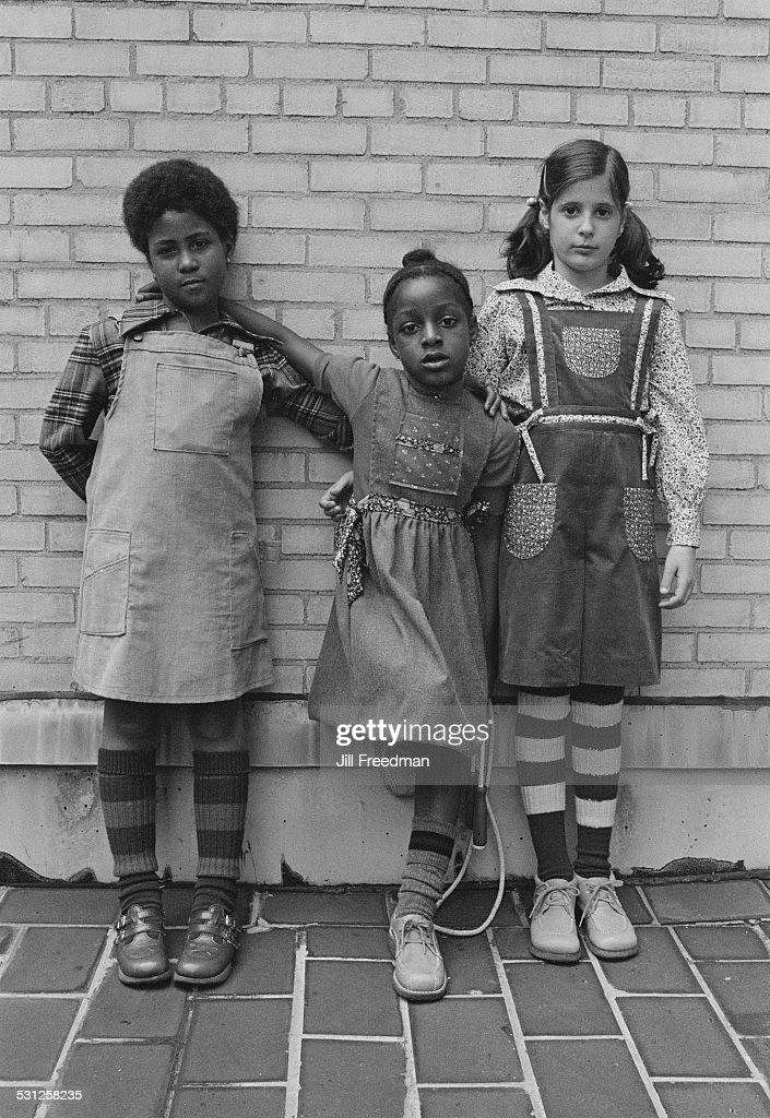 Three friends in New York City, circa 1976.