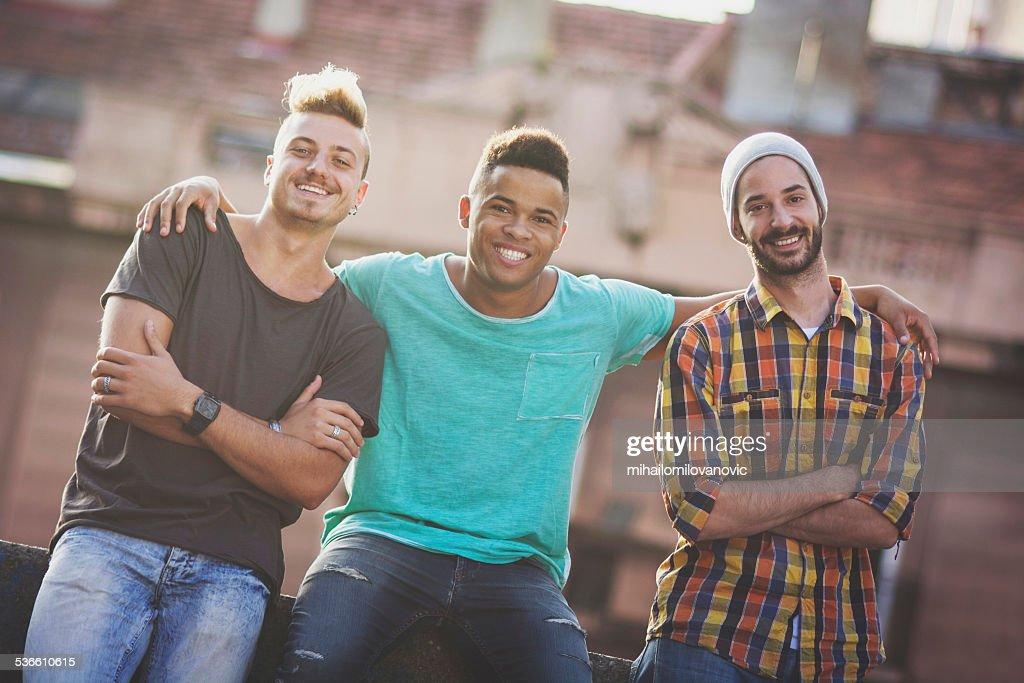 Three friends : Stock Photo