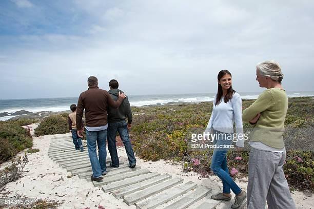 Three Generation Family At Beach