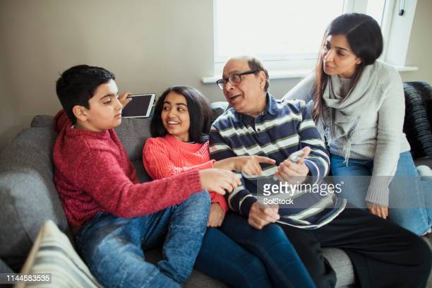 three generation family - autism stock pictures, royalty-free photos & images
