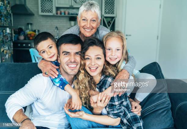 three generation family - mother in law stock pictures, royalty-free photos & images