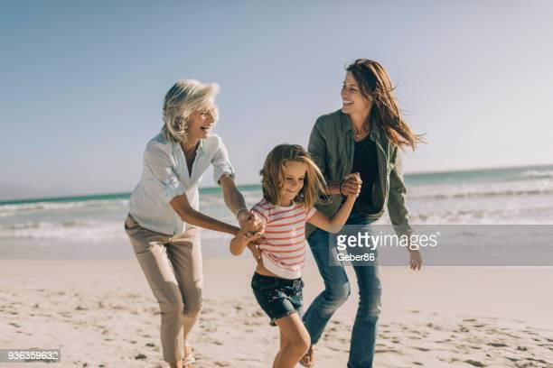 three generation family - daughter stock pictures, royalty-free photos & images