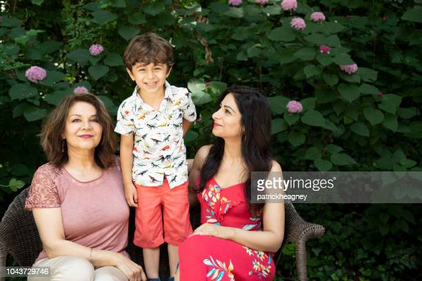 three generation persian family - persian culture stock photos and pictures
