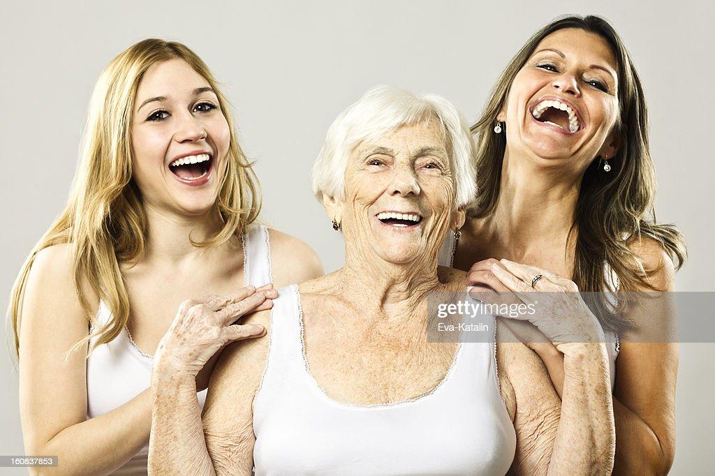 Three generation : Stock Photo