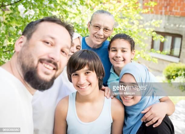 Three generational family