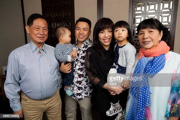 Three generations Chinese family
