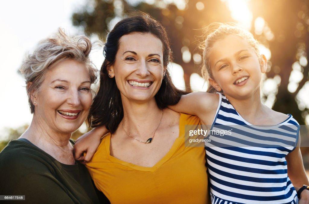 Three generations of beauty : Stock Photo