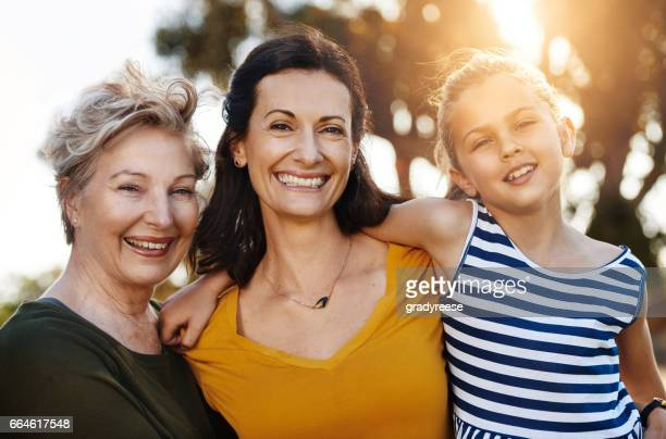 three generations of beauty - multigenerational family stock photos and pictures