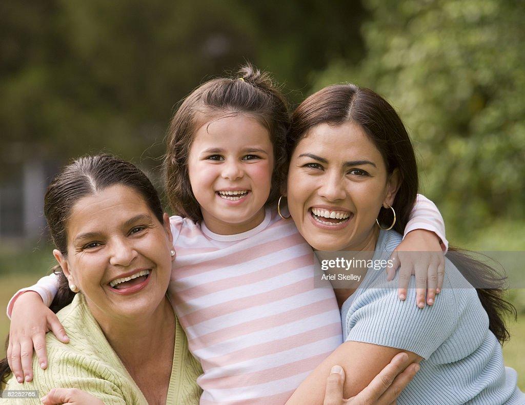 Three Generations of Family (Females) : Stock Photo