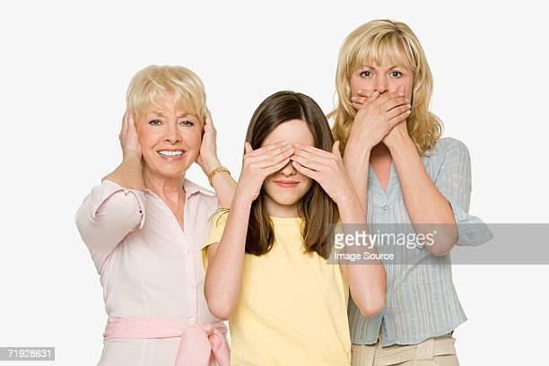 Three generations of females